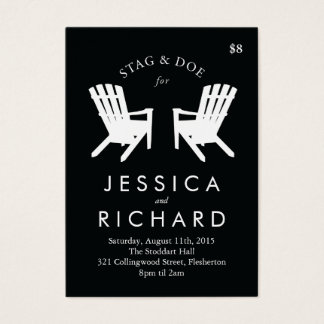 Muskoka Chair Stag and Doe Ticket // Black & White