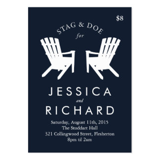 Muskoka Chair Stag and Doe Ticket // Navy Pack Of Chubby Business Cards