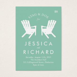 Muskoka Chair Stag and Doe Ticket // Turquoise