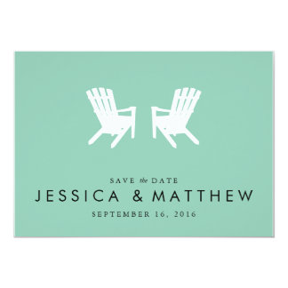 Muskoka Chairs Save the Date // Turquoise Card