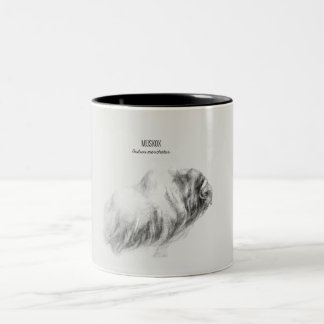 'Muskox drawing' Two-Tone Coffee Mug