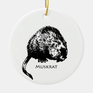 Muskrat (illustration) ceramic ornament