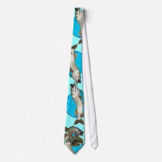 Musky blues tie