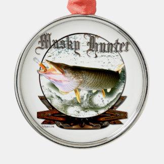 Musky hunter 1 metal ornament