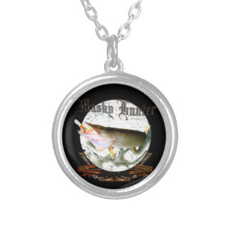 Musky hunter 1 silver plated necklace