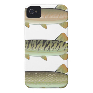 Musky Tiger musky and Northern Pike vector Case-Mate iPhone 4 Case