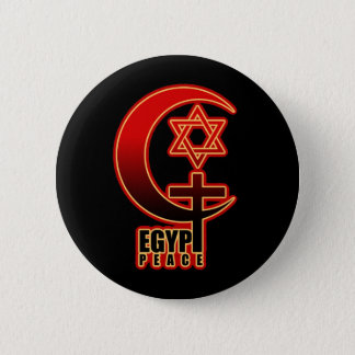 Muslim Christian Jew EGYPT PEACE 6 Cm Round Badge