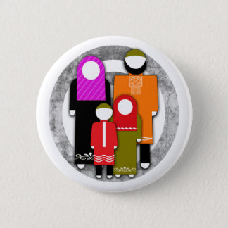 Muslim Family 6 Cm Round Badge