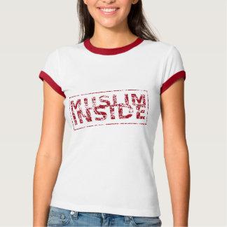 Muslim inside red Islamic print stamp T-Shirt