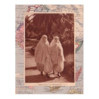 Muslim ladies, 1910 postcard