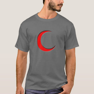 Muslim shirt with half moon symbol