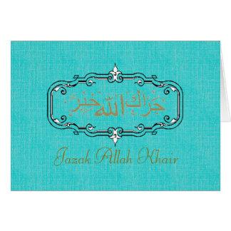 Muslim wedding thank you card