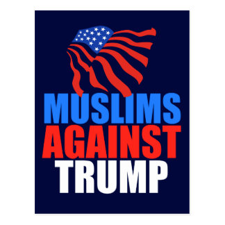 Muslims Against Trump Postcard