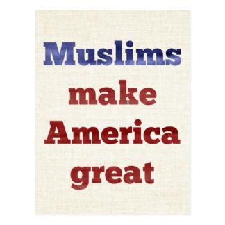 Muslims Make America Great Postcard