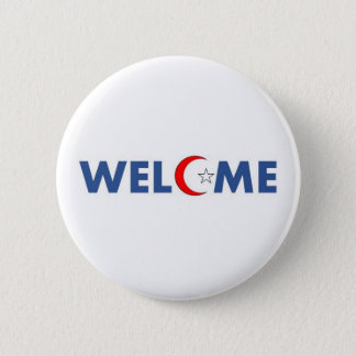 Muslims welcome in the USA 6 Cm Round Badge