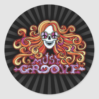 Must Groove Classic Round Sticker