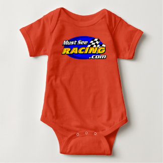 Must See Racing red onsie Baby Bodysuit