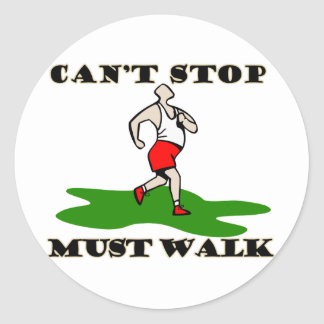 Must Walk Classic Round Sticker