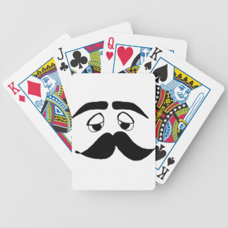 mustach face cartoon bicycle playing cards