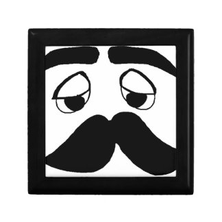 mustach face cartoon gift box