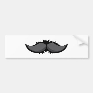 Mustache 2 bumper sticker