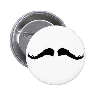 Mustache 6 Cm Round Badge