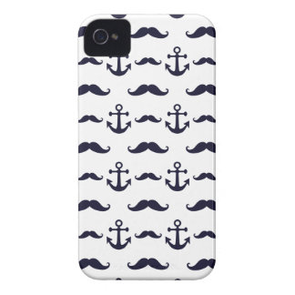 Mustache and anchor iPhone 4 cover