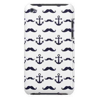 Mustache and anchor iPod Case-Mate case