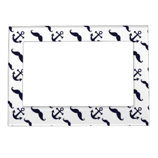 Mustache and anchor magnetic picture frame