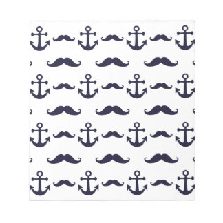 Mustache and anchor notepad