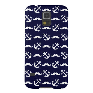 Mustache and anchor pattern galaxy s5 case