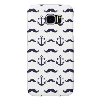 Mustache and anchor samsung galaxy s6 cases