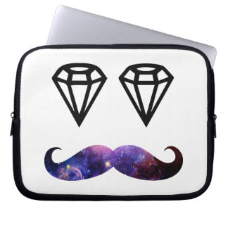 Mustache and diamonds laptop sleeve