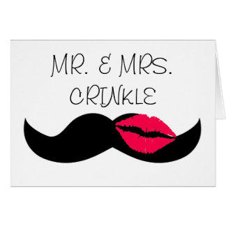 mustache and lips card