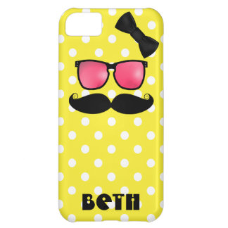 Mustache and Polka Dots iPhone 5C Case