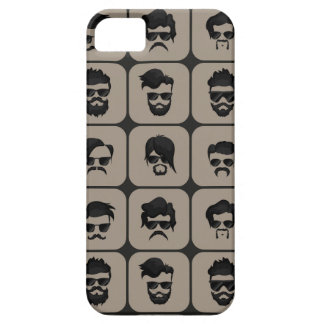 mustache, beard and hairstyle barely there iPhone 5 case