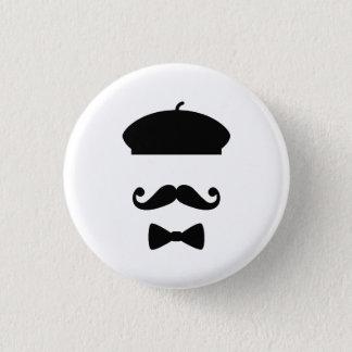 Mustache & Beret Pictogram Button