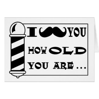 Mustache Birthday Greeting Card