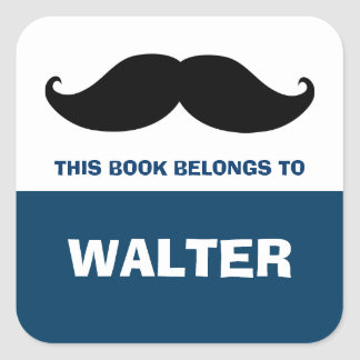 Mustache Bookplates, Book Labels
