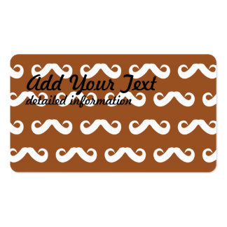 Mustache Brown White Business Card