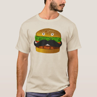 Mustache Burger Man T-shirt
