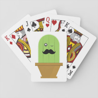 Mustache Cactus Playing Cards