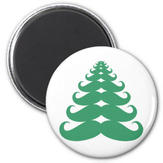Mustache Christmas Tree Magnets