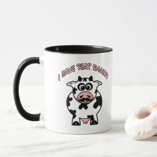 Mustache Cow Teat Smarts Mug
