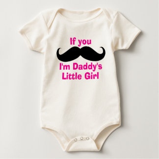Mustache Daddy's Little Girl Baby Bodysuit