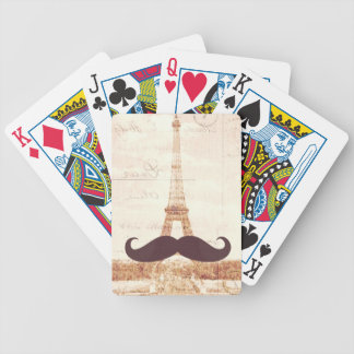 Mustache Eiffel Tower Bicycle Playing Cards
