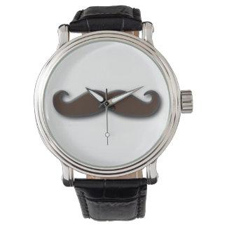 mustache faced watch