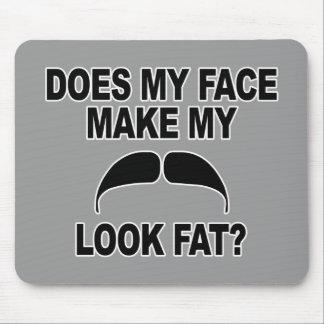 Mustache Fat Mouse Pad