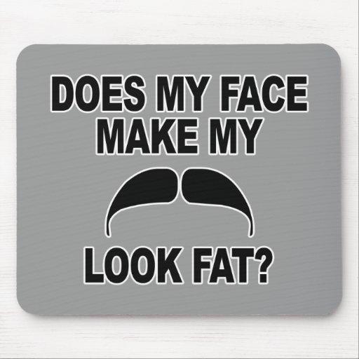 Mustache Fat Mouse Pads