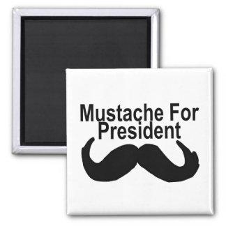 Mustache For President Square Magnet